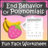 End Behavior of Polynomials Worksheet {Predicting End Behavior of Polynomials}
