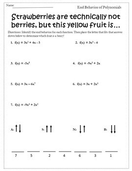 This worksheet covers higher order polynomial functions, their ...