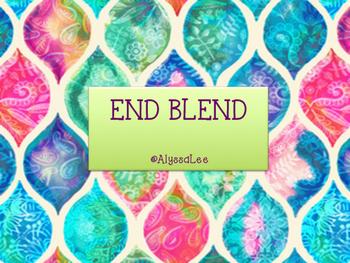End Blend Cards -Orton Gillingham