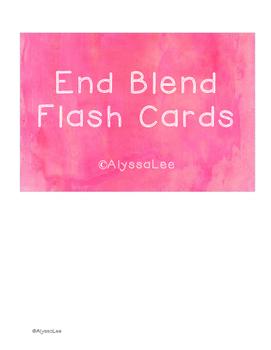End Blend Flash Cards -Orton Gillingham