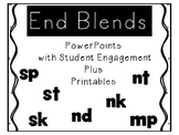End Blend PowerPoints with Student Engagement plus Printables