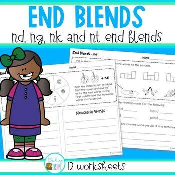 End Blends - Worksheets