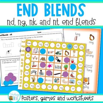 End Blends - nd, ng, nk and nt end blends