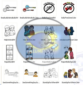 End Bullying! CommUNITY Clip-Art! 16 Pieces! BW and Color!