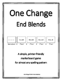 """End Consonant Blends- """"One Change"""" Whiteboard Game"""