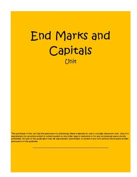 End Marks and Capitals Daily Grammar Mini Lessons