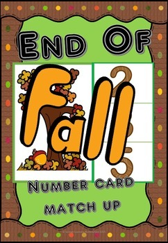 Autumn/Fall Number Match Up Cards