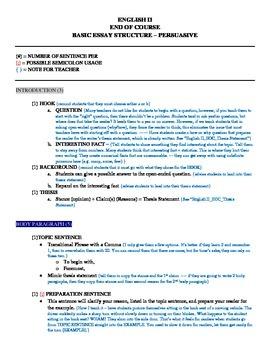End Of Course: English II Essay - Persuasive