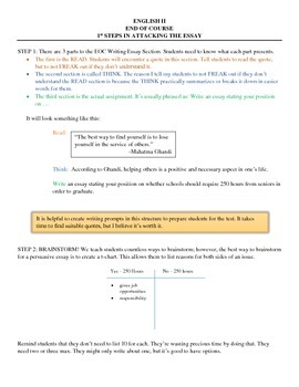 End Of Course: English II Essay - Thesis