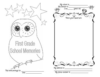 End Of School Memory Booklet
