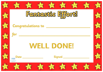 End Of Term Award Certificates