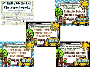 End Of The Year Activities, Awards, and Presentations Growing Mega Bundle