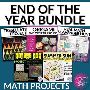 End Of The Year Activities for Math BUNDLE!!