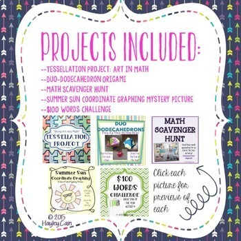 Math End Of The Year Activities BUNDLE