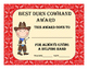 Cute Classroom Award Certificates, Cowboy Theme