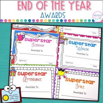 End Of Year Awards- Editable
