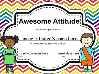 End Of The Year Awards, EDITABLE Certificates in Color or Black & White