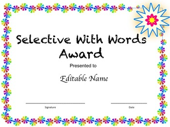 End Of The Year Awards (Editable)