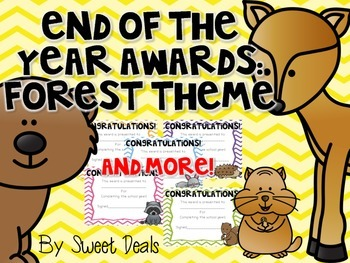 End Of The Year Awards: Forest Theme