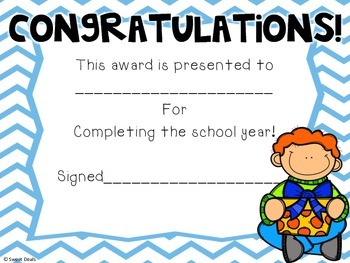 End Of The Year Awards: Kids Theme