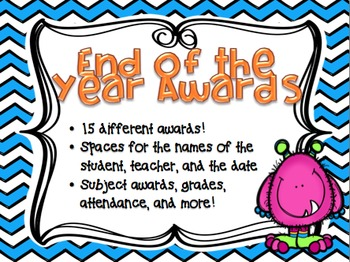 End Of The Year Classroom Awards (chevron themed)