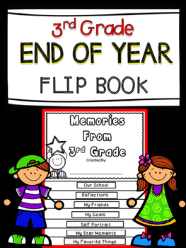 End Of The Year Flip Book Third Grade