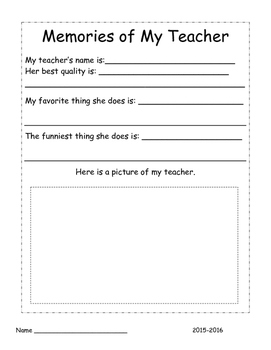 End Of The Year- Memory Book
