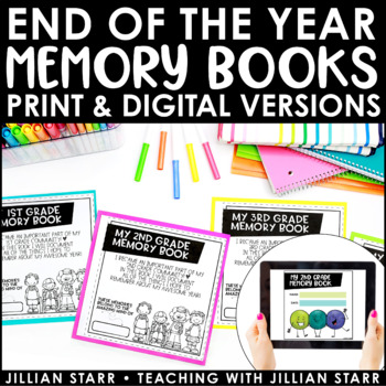 End Of The Year Memory Book   End of Year Keepsake