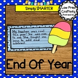 End Of The Year Popsicle Writing Cut and Paste Craftivity