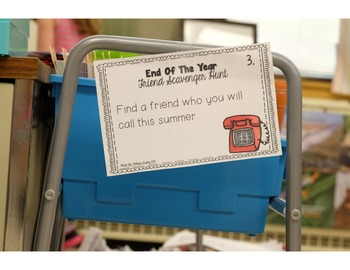 End Of The Year Scavenger Hunt