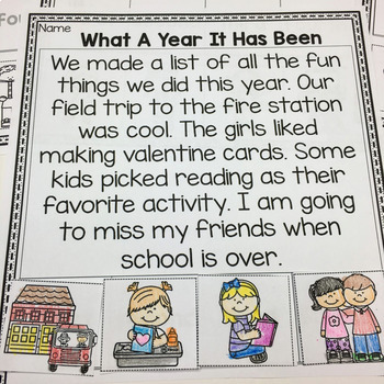 End Of The Year- Sequencing Stories