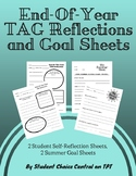 End-Of-The-Year TAG Reflection And Summer Goal Sheet