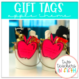 End Of The Year Teacher Gift Tag -Apple Themed