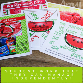 End Of The Year Activities Watermelon Day