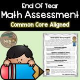 End Of Year Assessment for Kindergarten Math