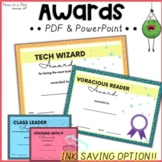 Editable End of Year Awards ⭐