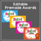 End of Year Awards- Editable Superlative Awards: Color and Black and White