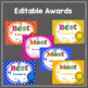 End of Year Awards Editable :Superlative,Color , Black and White