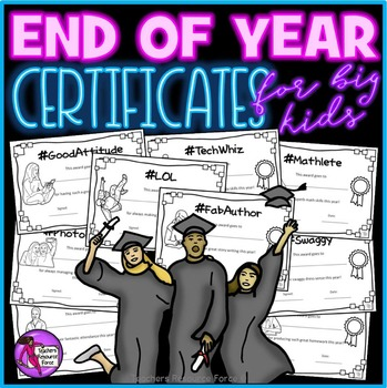 End of the Year Awards - Hashtag style for Teens