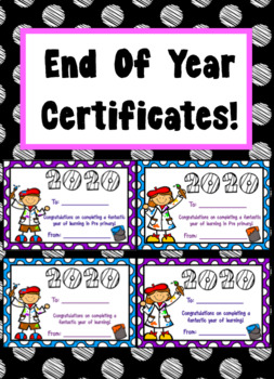 End Of Year Certificates 2017