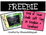 End Of Year Chalk Gift Tag - Etiqueta de fin de año para gis