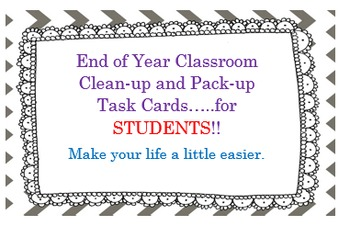 End Of Year Classroom Organization