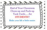 End Of Year Classroom Organization
