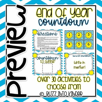 End Of Year Countdown Activities