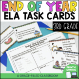End Of Year ELA Task Cards {3rd Grade}