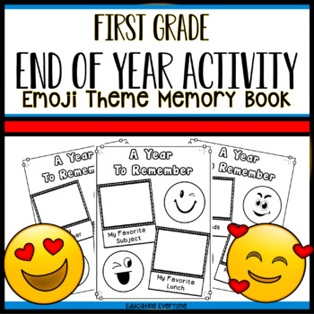 End Of Year Emoji Memory Book - First Grade