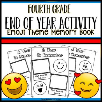 End Of Year Emoji Memory Book - Fourth Grade