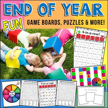 End Of Year Fun Activities Puzzles Games and Memory Book