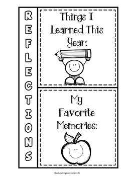 End Of Year Interactive Notebook