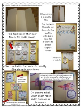End Of Year Lapbook / Memory Book!  Create A Keepsake Of Your Year!